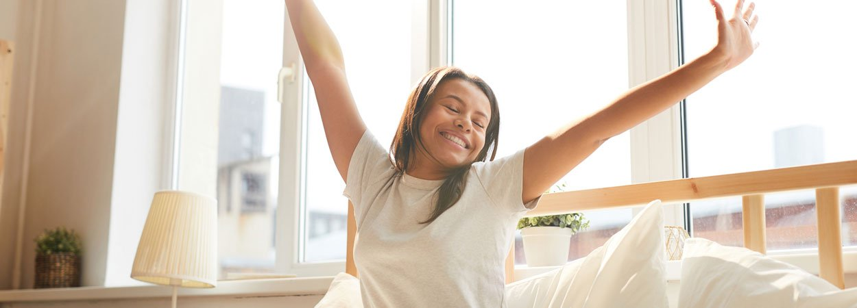 Mixed-Race-Woman-Enjoying-Morning
